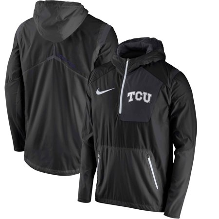 TCU Horned Frogs Nike Sideline Vapor Fly Rush Half-Zip Pullover Jacket - Black - (Nike Vapor Fly Pro Irons For Sale)