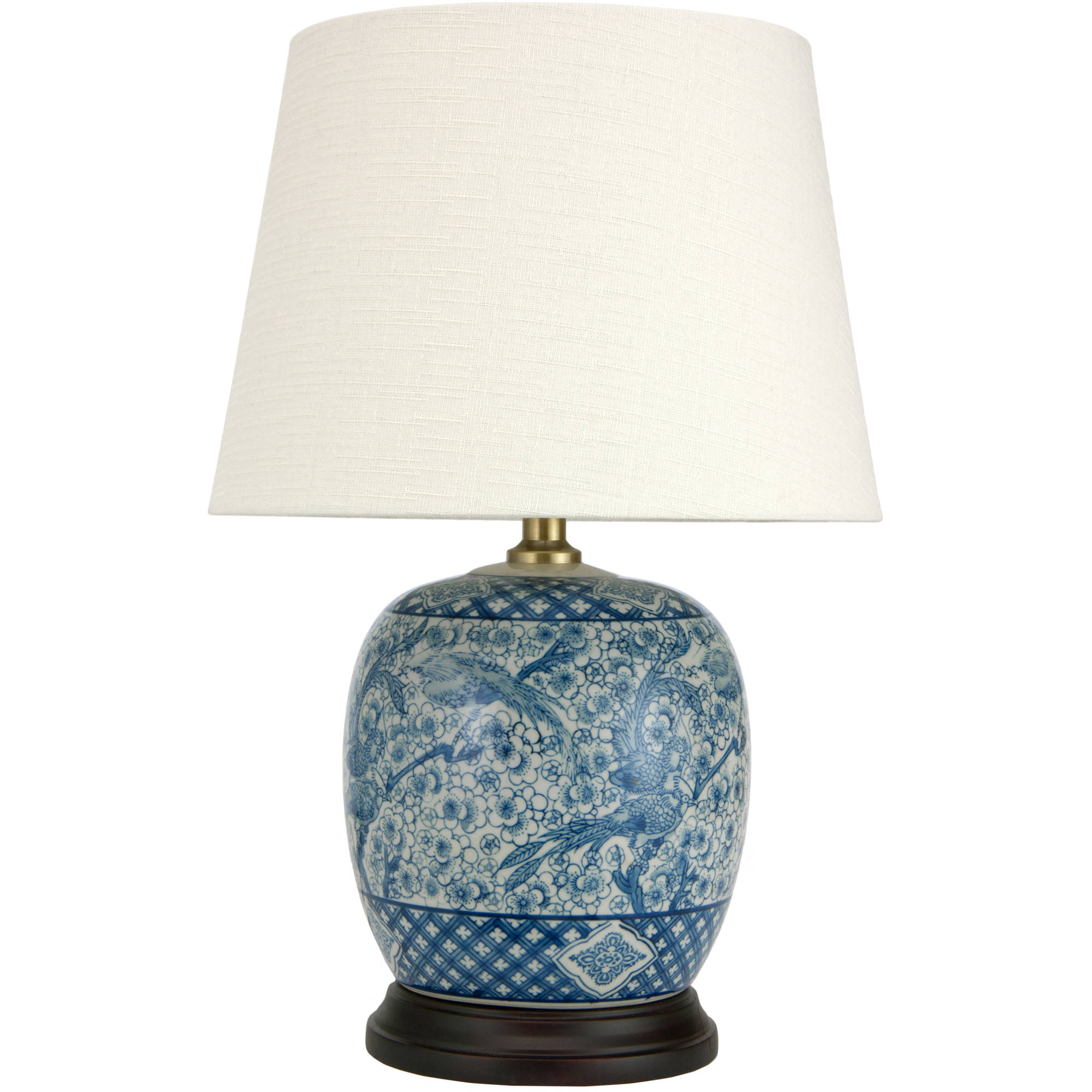 "20"" Classic Blue & White Porcelain Jar Lamp by Oriental Furniture"
