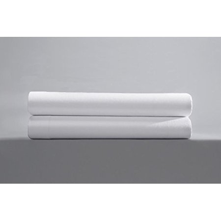 Flat Sheet, King Size (108 x 110), 200 TC, Poly-Cotton Blend, Comfortable, Hotel Quality, Extreme Durability, Breathable, Brilliant White Flat Sheet By Pacific Linens - Halloween Kings Cross Hotel