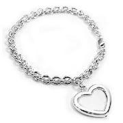 Sterling Silver Picture Frame or Locket Photo Holder on Charm Chain Bracelet