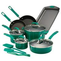 Rachael Ray Hard Porcelain Enamel Nonstick 14-Piece Cookware Set