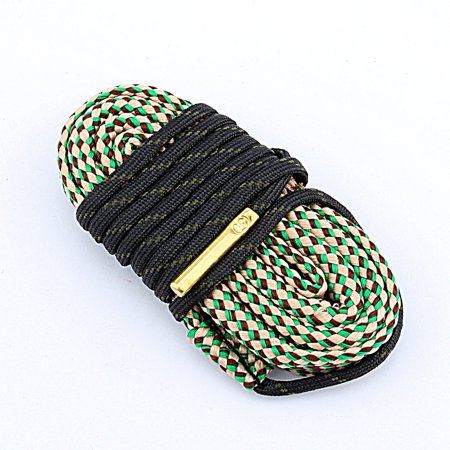 Tbest.Green Bore Snake Gun Rope Cleaning 30 Cal 7.62mm Boresnake Cleaner Brush,Built-in bore