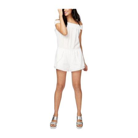 Rachel Roy Womens Cotton Romper Jumpsuit white 2XL - image 1 de 1
