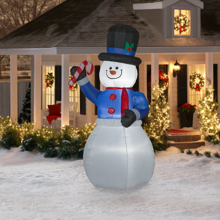 Airblown Inflatables 9 Ft. Jumbo Snowman Inflatable](Halloween Airblown Inflatables)