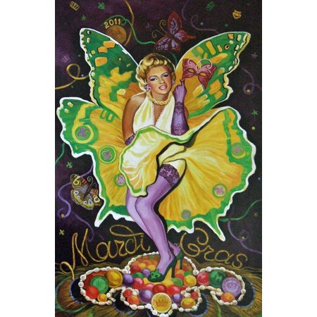 Marilyn Monroe Mardi Gras Baltas Art 2011, Marylyn Monroe- By New Orleans](Mardi Gras Store New Orleans)