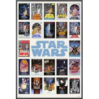 """Star Wars - Framed Movie Poster / Print (One Sheet Poster Collage) (Size: 24"""" x 36"""")"""