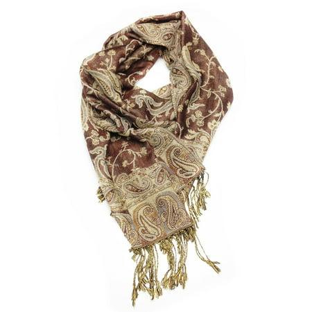 Paskmlna® Reversible Paisley Pashmina Shawl Wrap Elegant Colors #06 (Reversible Paisley Pashmina Shawl)