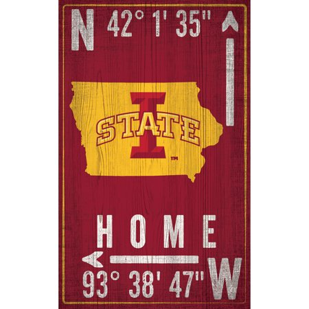 """Iowa State Cyclones 11"""" x 19"""" Coordinate Sign - No Size"""