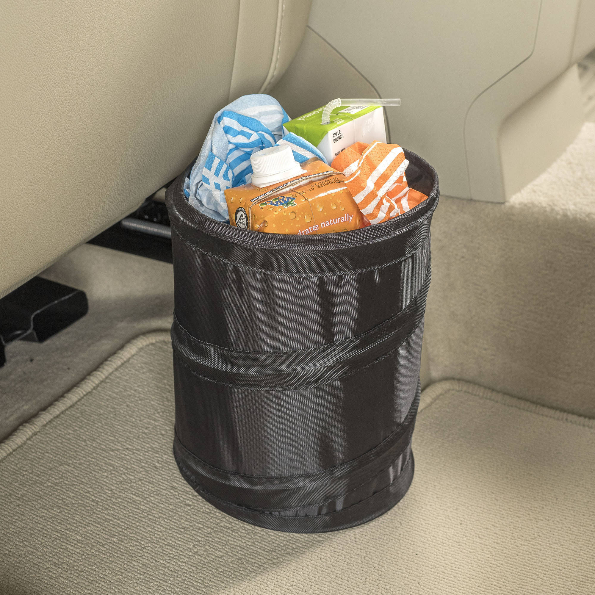 High Road Compact Leakproof Pop-Up Car Trash Can