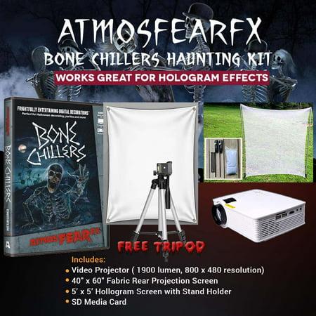 Halloween Atmosfearfx Bone Chillers Projector Kit, 1900 Lumen Projector with 800 x 460 - Halloween 1900