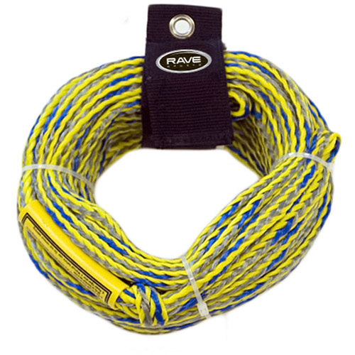 Rave Sport 1 Section 2-Person Ski and Tow Rope, Yellow