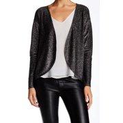 Olivia Sky NEW Black Women's Medium M Cardigan Glittery Open Sweater