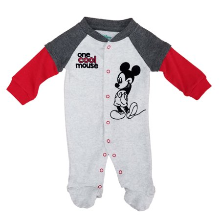 Disney Baby Infant Boys One Cool Mouse Mickey Footie Sleep & Play Pajama Sleeper Infant Sleeper Pajamas