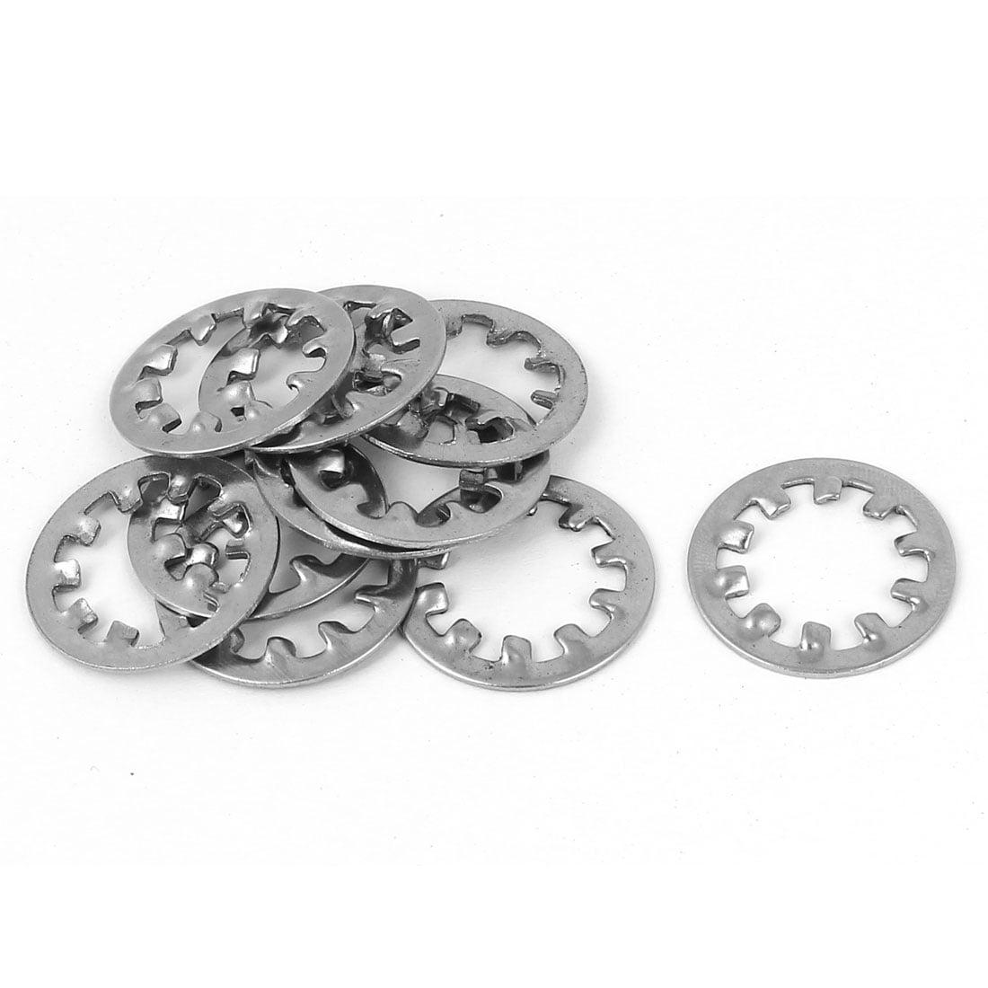M12 304 Stainless Steel Internal Star Lock Washers 10 Pcs