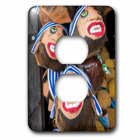 3dRose USA, Florida, Florida Keys, Key West, coconut pirate head souvenirs. - 2 Plug Outlet (Florida Keys Outlet Mall)