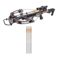 CenterPoint Heat 415, Camo Compound Crossbow Package with Quiver & Arrows - AXCH200GCK