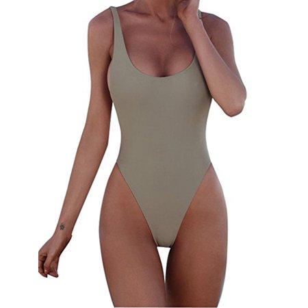 bb8701fba7e SAYFUT - SAYFUT Sexy Women One-Piece Swimsuits Soild Color Swimwear Bathing  Suit - Walmart.com