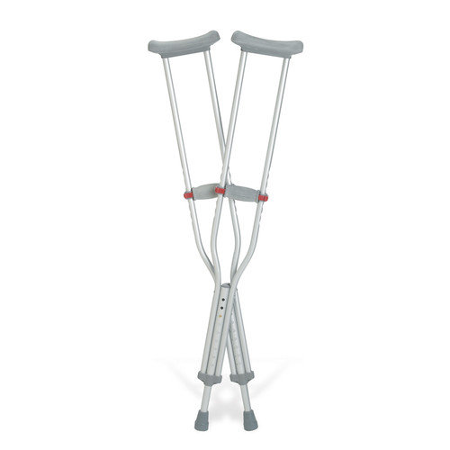 Medline Red Dot Underarm Crutch (Set of 2)