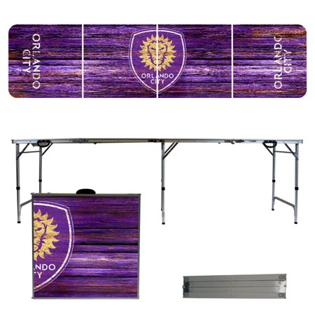 Orlando City SC Weathered Design 8' Portable Folding Tailgate Table - No Size ()