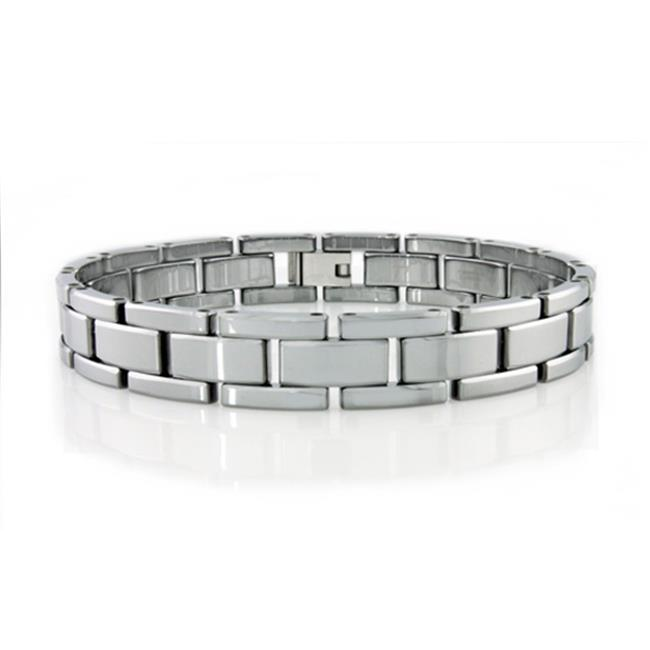 EWC B10051 Mens Tungsten Carbide Bracelet High Polish Finish