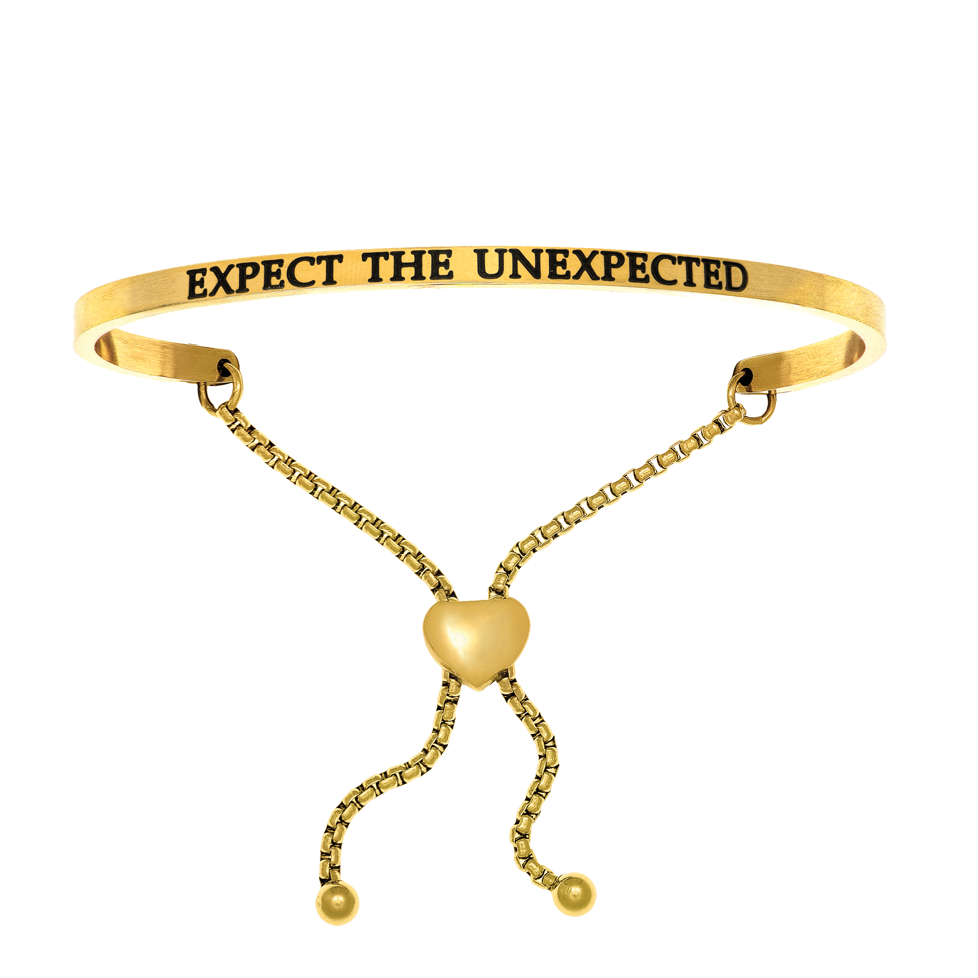 Intuitions Stainless Steel EXPECT THE UNEXPECTED Diamond Accent Adjustable Bracelet - image 1 de 1