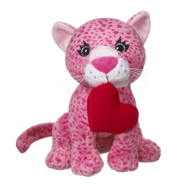 Chewy Leopard With Heart 12 Stuffed Animal By Ganz Hv9105