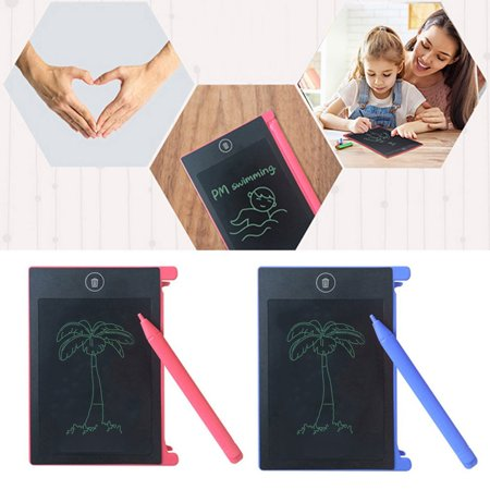 LCD Writing Tablet,4.4 Inch Portable Electronic Writing Drawing Board Doodle Pads, Digital Handwriting Notepad with Stylus Use for School, Home and Office, Great Gift for Kids & Adults. (Blue) - image 5 of 10