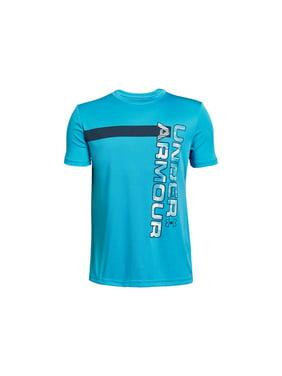 Under Armour Boys Kids UV Wordmark Short Sleeve T-Shirt