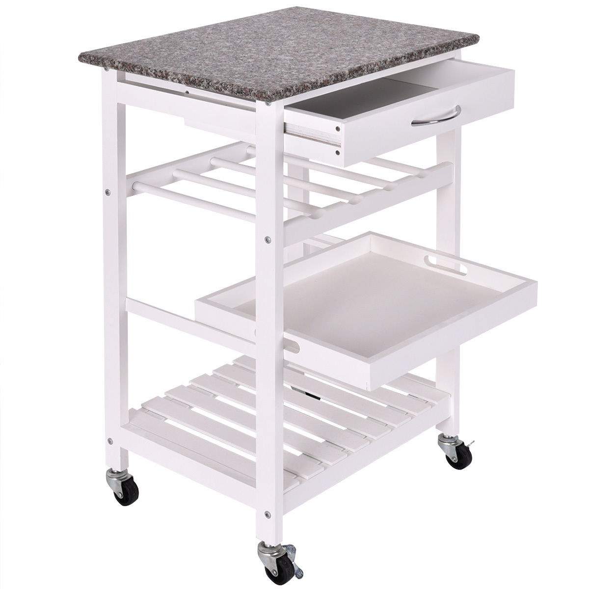 Stenstorp Kitchen Trolley White Oak 79x51x90 Cm Ikea Inside White Kitchen Trolley Design