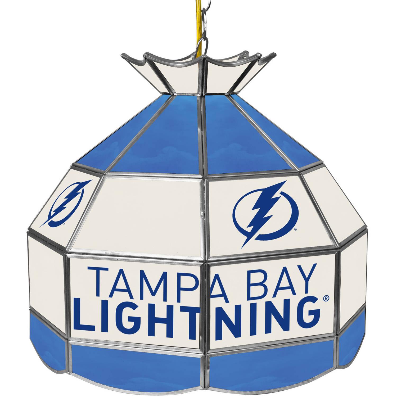 "NHL 16"" Handmade Tiffany Style Lamp, Tampa Bay Lightning"
