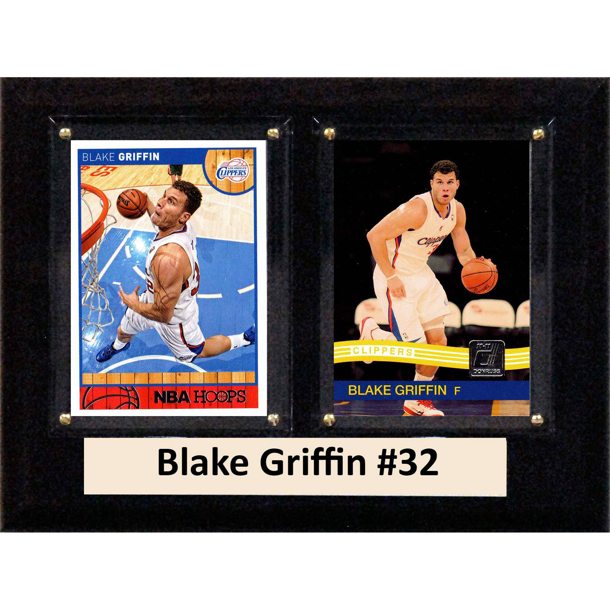 C&I Collectables NBA 6x8 Blake Griffin Los Angeles Clippers 2-Card Plaque