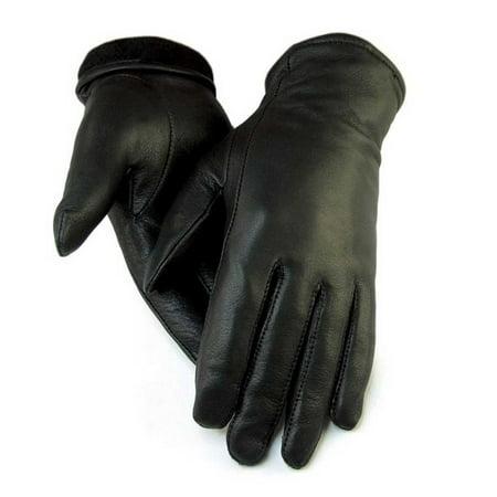 Dress Gloves Womens (Northstar Women's Black Full Deerskin Dress Glove Fleece Lined 3