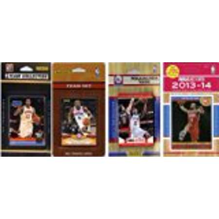 Nba Philadelphia 76Ers 4 Different Licensed Trading Card Team Sets