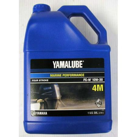 Yamaha ACC-Y4M10-30-04  ACC-Y4M10-30-04 Engine Oil, Yamalube 4-stroke Outboard Motor Marine 10W30 4M NMMA FCW (Low Phosphorous) Gallon (Individual Bottle); New # LUB-10W30-FC-04 4 Stroke Engine Oil