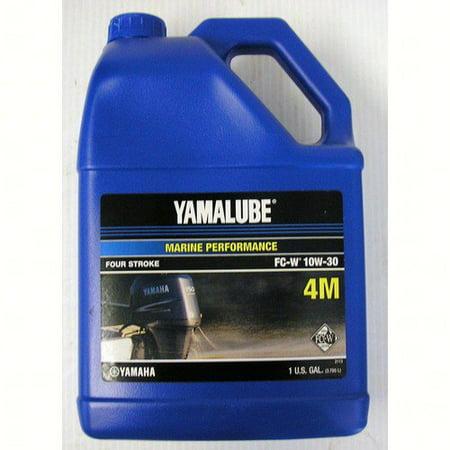 Yamaha LUB-10W30-FC-04  LUB-10W30-FC-04 Engine Oil, Yamalube 4-stroke Outboard Motor Marine 10W30 4M NMMA FCW (Low Phosphorous) Gallon (Individual Bottle);