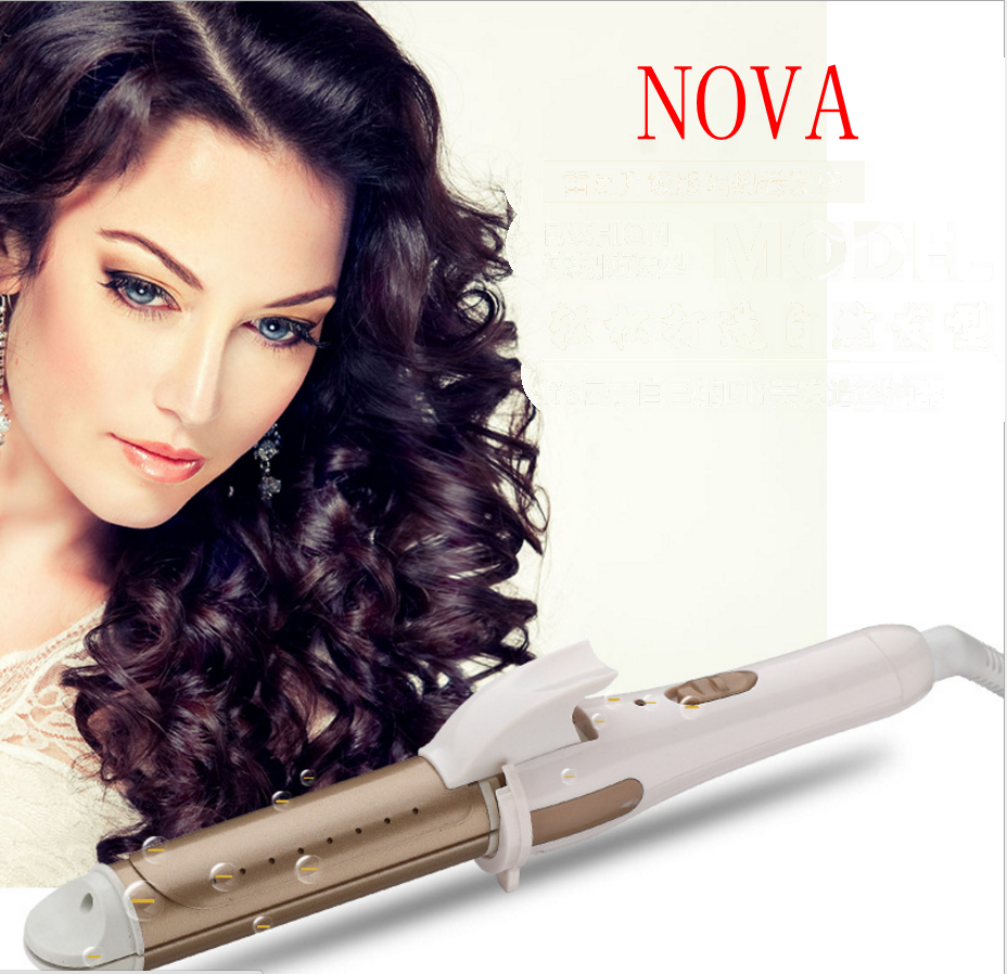 Ceramic Electric Hair Straightener Hair Curler Dual-Use Electric Hair Rod -Wet and dry use-Do not hurt the hair