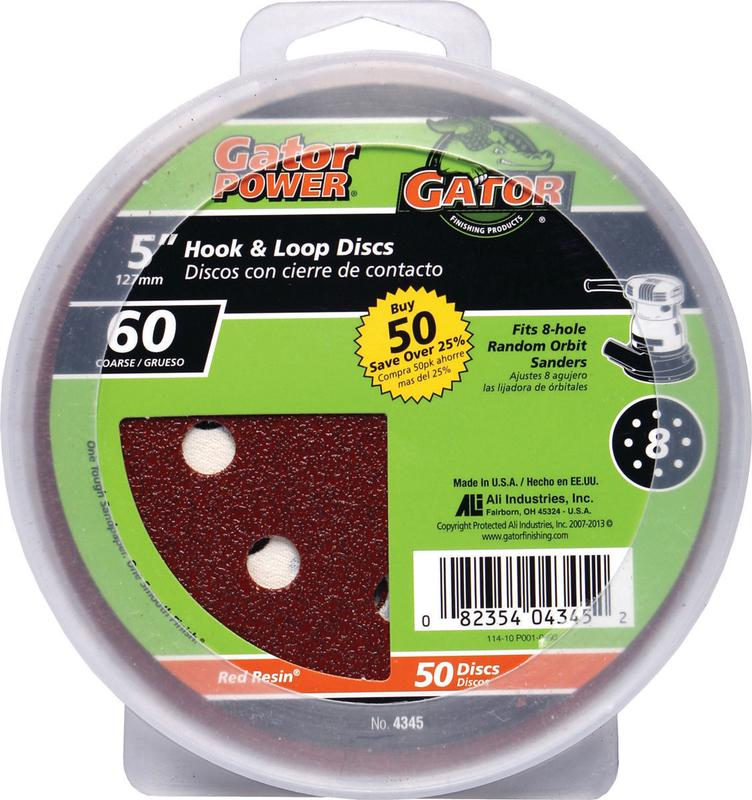 Gator 4345 Sanding Disc, 5 in, 60 Grit