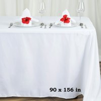"""Efavormart 90x156"""" Polyester Rectangle Tablecloths for Kitchen Dining Catering Wedding Birthday Party Decorations Events"""