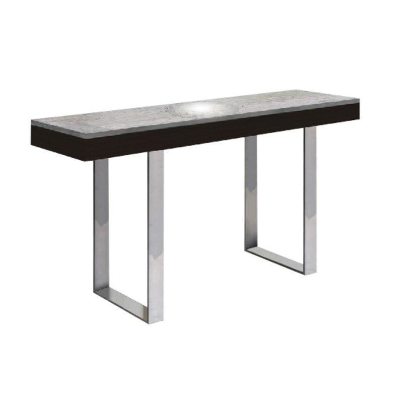 Casabianca Glacier Marble Console Table In Gray