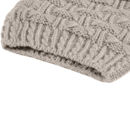 Sweater Scarf and Hat Set Keep Warm in Winter Knitted Hat - image 6 de 7