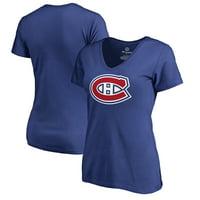 Montreal Canadiens Fanatics Branded Women's Primary Logo T-Shirt - Royal