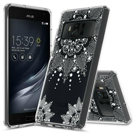 ASUS ZenFone AR Case, Rosebono Slim Scratch-Resistant Pattern Designed Slim Shockproof Bumper Protective Cover for ASUS ZenFone AR (ZS571KL) (Mandala Floral)