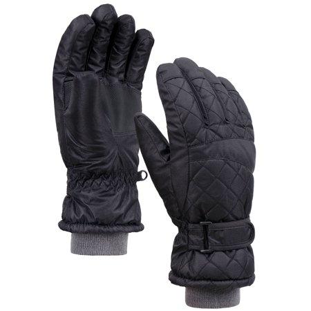 Women's Sports Waterproof Ski / Snowboarding Gloves, Black, Medium