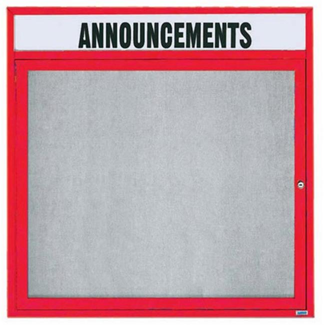 Aarco Products ODCC3636RHR Outdoor Enclosed Bulletin Board - Red