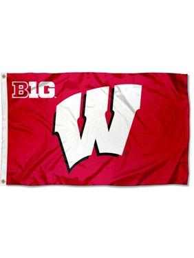 Wisconsin Badgers Big 10 3' x 5' Pole Flag