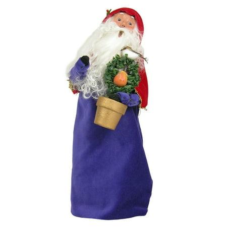 Byers Choice 12 Days Of Christmas  Partridge In Pear Tree Santa Figurine