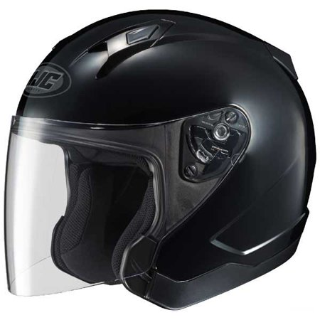 HJC CL-Jet Solid Open Face Helmet Gloss - Amp Kit Black Face