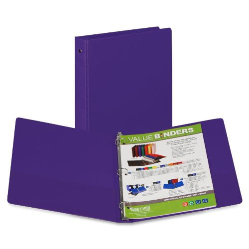 "Click here to buy Samsill 3-Ring Vinyl Storage Binders 1"" Binder Capacity Letter 8 1 2"" x 11"" SHeet Size 200... by SAMSILL CORPORATION."