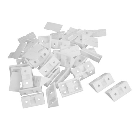 Shelf Cabinet Closet 90 Degree Plastic Corner Braces Angle Brackets White -