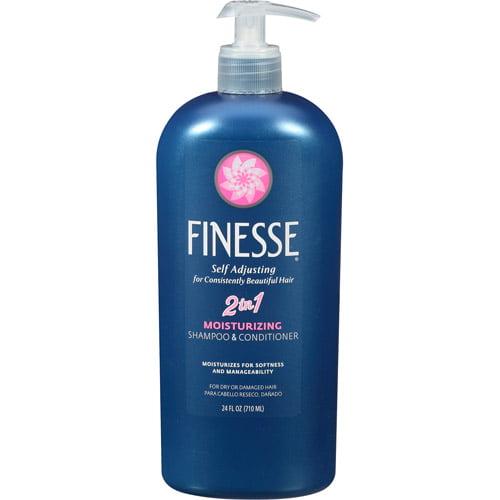Finesse Self Adjusting, 2 in, 1 Moisturizing Shampoo & Conditioner, 24 fl oz